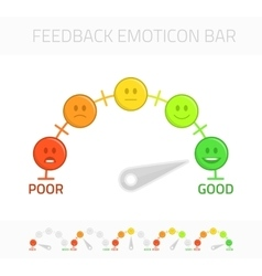 Feedback emoticon bar vector image