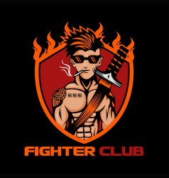 fighter club vector image