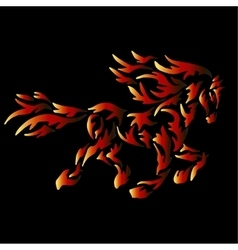 Fire horse tattoo vector