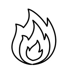 fire icon line isolated on vector image