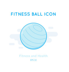 Fitness ball icon isolated on white vector