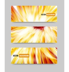 Flower set banner brochure template vector