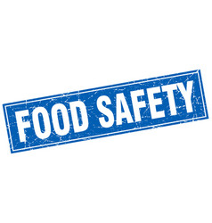 Food safety square stamp vector