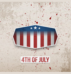 Fourth july independence day grunge background vector