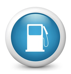Gasoline Station glossy icon vector image