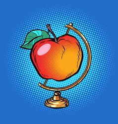globe international ripe red apple vector image