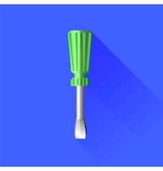 Green Screwdriver vector image