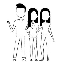 group of persons avatars characters vector image