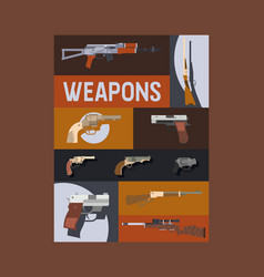 guns and vinchesters poster vector image