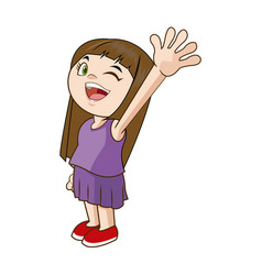 happy cheerful child girl active vector image