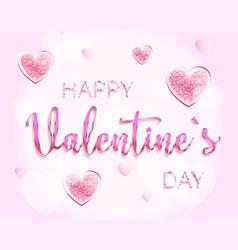 happy valentines day romantic design card vector image