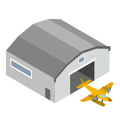 Hydroplane icon isometric style vector