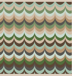 ikat wave green feather retro colours vector image