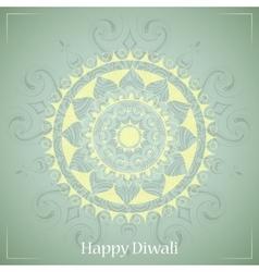 Indian festival Diwali greeting card design vector