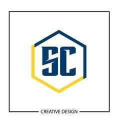 Initial letter sc logo template design vector