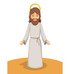 Jesus god cartoon design vector