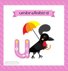 Letter u lowercase tracing umbrellabird vector