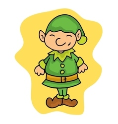 Little christmas elf helpers kid cartoon vector