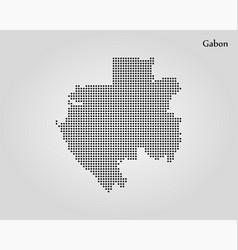 map gabon world map vector image