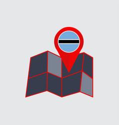 Map pins botswana and herzegovina vector