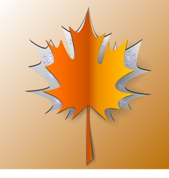 Maple Autumn Leaf Cut From Paper vector