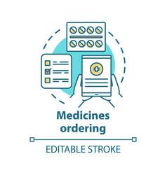 Medicines ordering concept icon medical supplies vector