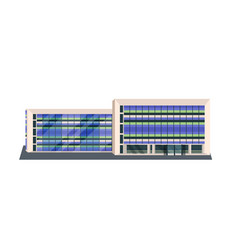 modern corporate office building icon business vector image