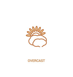 Overcast concept 2 colored icon simple line vector