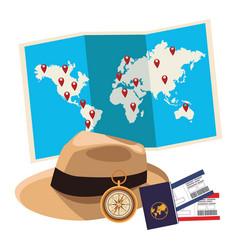 Panama hat icon vector