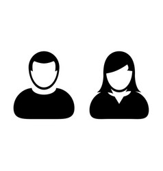 People icon male and female sign of user person vector