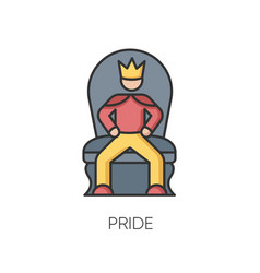 Pride rgb color icon vector