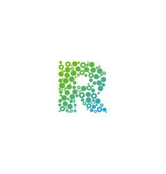 r particle letter logo icon design vector image