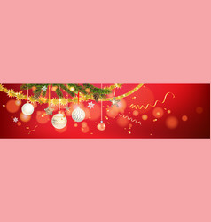 Red and shine holiday banner vector