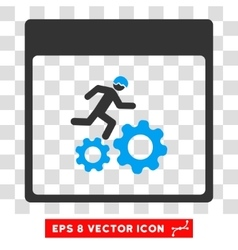 Running Worker Calendar Page Eps Icon vector