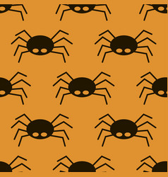 scary big black spider seamless pattern poisonous vector image