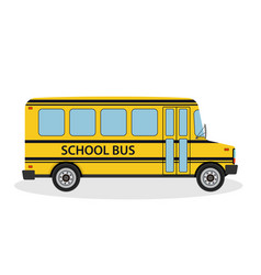 school bus for children ride to vector image