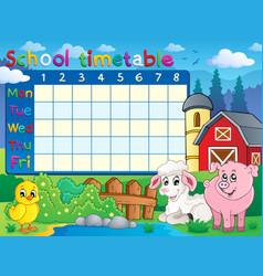 School timetable topic image 1 vector