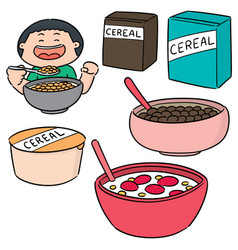 Set cereal vector