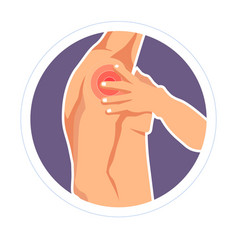 Shoulder injury bruise pain or ache isolated male vector