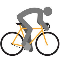 Sport bicycle rider icon cyclist vector