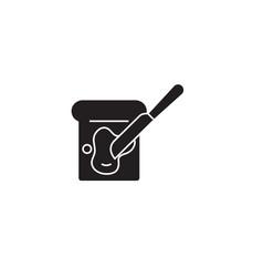 spread butter black concept icon spread vector image