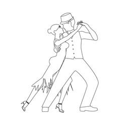 tango dance vector image