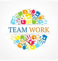 Team work symbol creative concept vector
