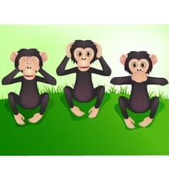 Three wishes monkey vector