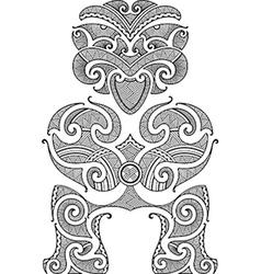 Tiki tattoo design vector image