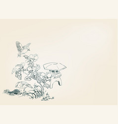 toro light flower nature landscape view sketch vector image
