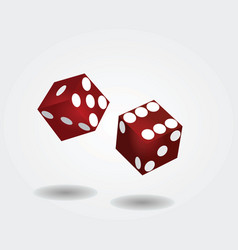 Two dices rolling vector