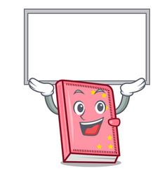up board diary character cartoon style vector image