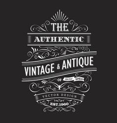vintage frame design western label blackboard vector image