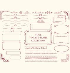 Vintage frames 1 vector